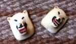 Tête d'ours blanc en ivoire. Salish