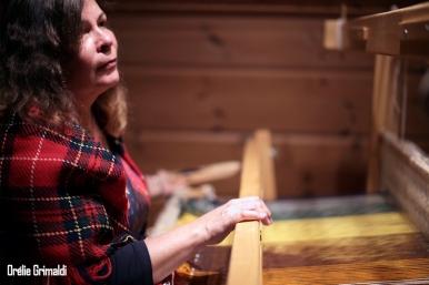 Anne la tisserande finlandaise au Sami Land